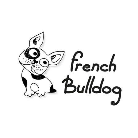 Divertente Bulldog francese - divertente illustrazione schizzo. Archivio Fotografico - 30350078