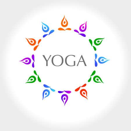 namaste: Yoga Design element.
