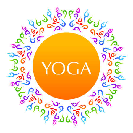 Yoga The idea for the sign Yoga  Vector