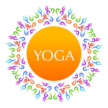 namaste: Yoga The idea for the sign Yoga