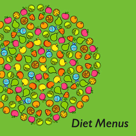 diet menu design template design royalty free cliparts vectors and