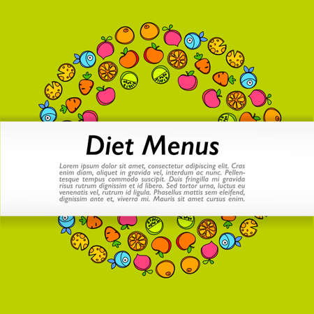 diet menu design template design royalty free cliparts vectors