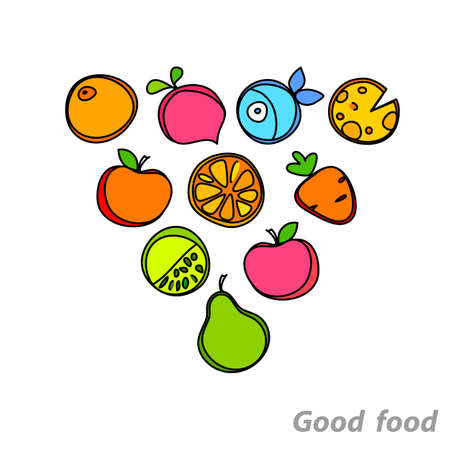 wholesome: Healthy wholesome food - fruit, vegetables, fish.