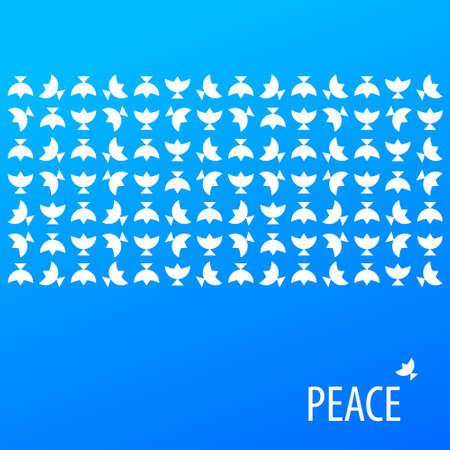 birds in flight: Poster for peace pattern.
