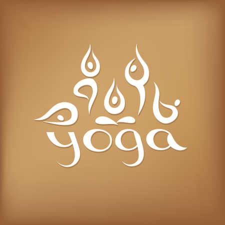 namaste: Yoga Studio Set Assan and unique inscription.