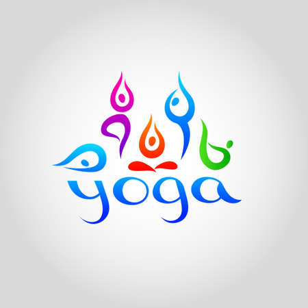 template for schools of yoga. Vector