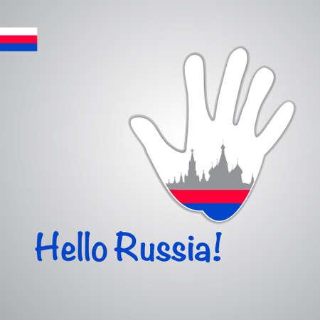 Template - hello Russia.  Vector