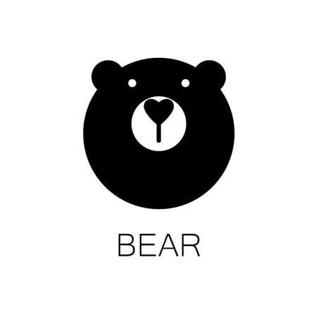 Semplice segno un modello di orso Archivio Fotografico - 40333379