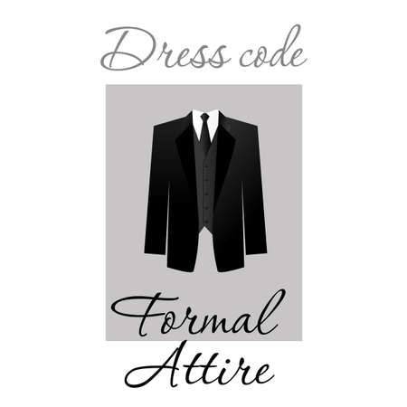 Dress code. Options. Vector.