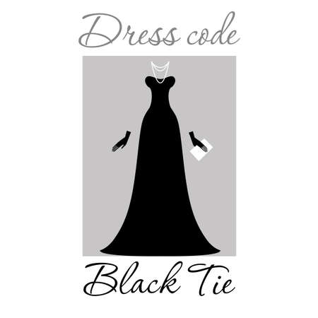 cocktail dress: Dress code. Options. Vector.