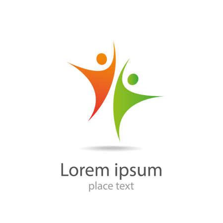 Design-Vektor-Logo Element Zusammenfassung Menschen icon Standard-Bild - 40398108