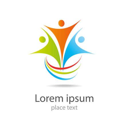 ikony: Projekt logo wektor elementem Streszczenie ikona osób Ilustracja