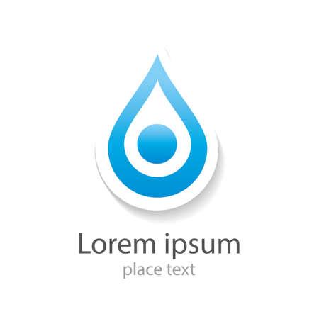 saludable logo: Gota de agua abstracto del vector plantilla de dise�o del logotipo. Azul gotas de agua. Creativo icono concepto forma Aqua. Claro idea bio eco. Ecolog�a tecnologia. Vectores
