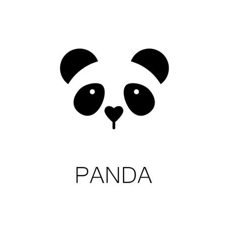 simple logo: simple sign a panda - design template