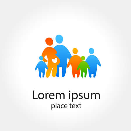 large family: Family logo concept.Template design.