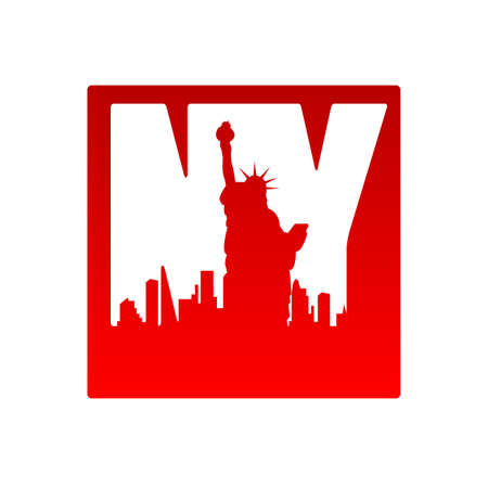 new york silhouette: New York city skyline silhouette. Template for design.