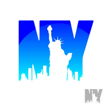 new york city skyline: New York city skyline silhouette. Template for design.