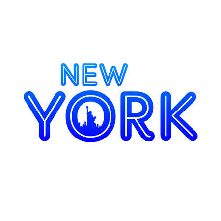 urban city: New York city skyline silhouette. Template for design.