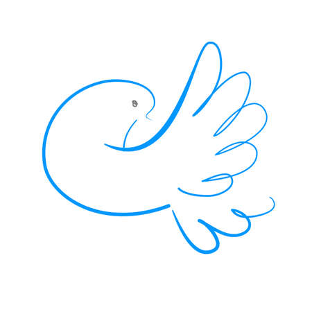 holy leaves: dove symbol of peace Illustration