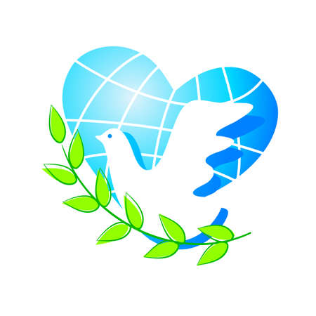 peace: dove symbol of peace Illustration