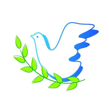 heaven and earth: dove symbol of peace Illustration