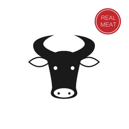 designation: meat - a template for the sign, logo or icon, or a grocery store meat, the designation of meat products.