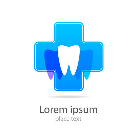 stomatology icon: Stomatology sign. Dental Clinic Logotype concept. Dentist Logo tooth shape design vector template. Illustration