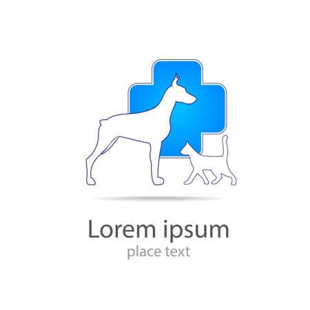 medicine logo: Plantilla de dise�o de logotipo para cl�nicas veterinarias - La medicina veterinaria.
