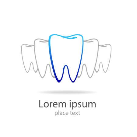 Stomatology sign. Dental Clinic Logotype concept. Dentist Logo tooth shape design vector template. Vettoriali