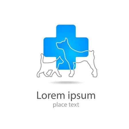 veterinary: Plantilla de dise�o de logotipo para cl�nicas veterinarias - La medicina veterinaria.