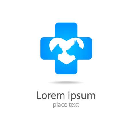 Modèle de conception de logo pour les cliniques vétérinaires - de la médecine vétérinaire. Illustration