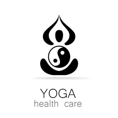 Yoga Logo design vector template.  Yoga concept icon. Meditation SPA Logotype.