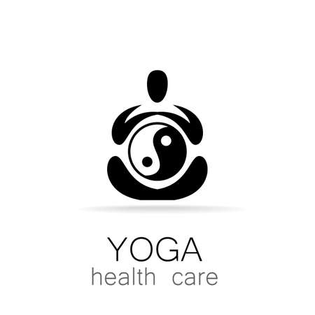 om symbol: Yoga  design vector template.  Yoga concept icon. Meditation SPA .