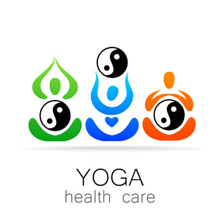 spa salon: Yoga  design vector template.  Yoga concept icon. Meditation SPA .