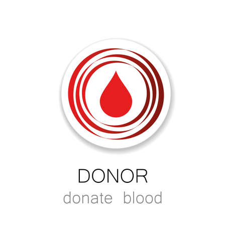 donor: Donor - Donate blood. Template for design. Medicine Cardiology Donor Healthy concept icon. World blood donor day - 14 June. Heart and blood drop illustration.