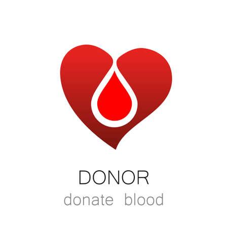 donor: Donantes - Donar sangre. Modelo para el dise�o. Medicina Cardiolog�a Donantes icono concepto saludable. Mundial d�as de donantes de sangre - 14 de junio. Coraz�n y la ilustraci�n gota de sangre.