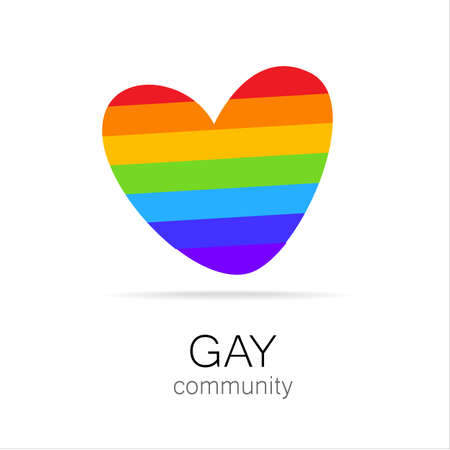 homosexual sex: Gay Community - sign design. Template logo.
