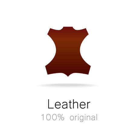 original: Leather - 100% original. Template sign for the label, , advertising, products made of leather. Illustration