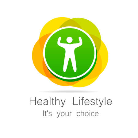 salud y deporte: Forma de vida sana - plantilla para del club deportivo, artículos de deporte, dieta, centros de salud, etc.