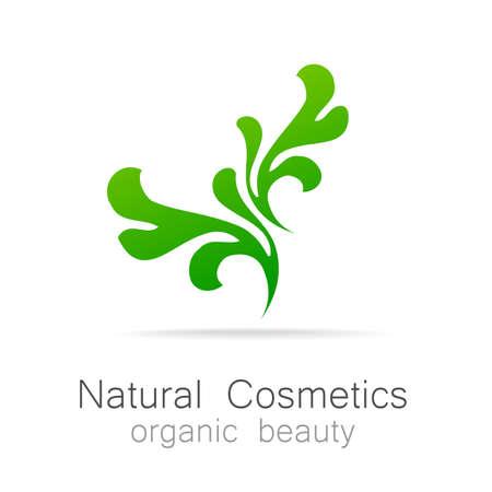 natural beauty: Natural Cosmetics - Organic beauty. Template Logo for cosmetics, spa, beauty salon. Illustration