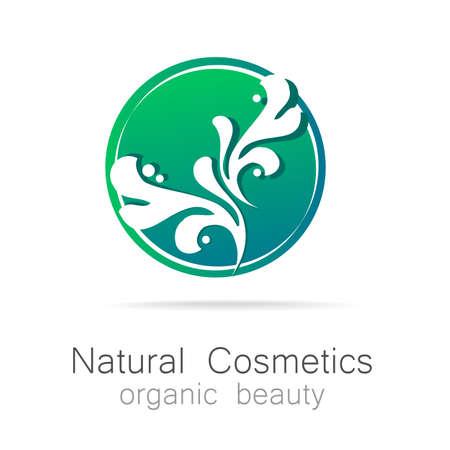 natural beauty: Natural Cosmetics - Organic beauty. Template  for cosmetics, spa, beauty salon. Illustration