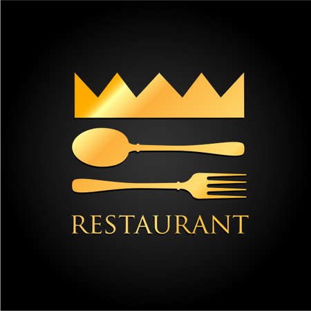 vip beautiful: Restaurant  - idea for the sign  label element