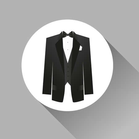 dress suit: Suit icon isolated