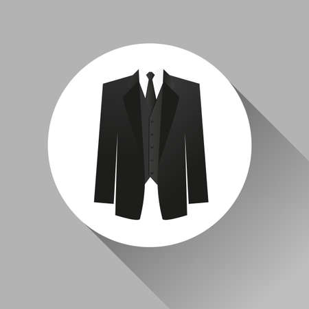 dress code: Suit icon isolated