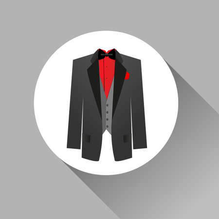 ties: Suit icon isolated