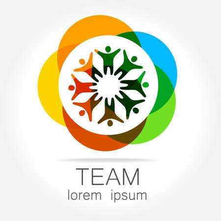 Team  template. Social media marketing idea.   Corporate symbol. Social network. Illustration