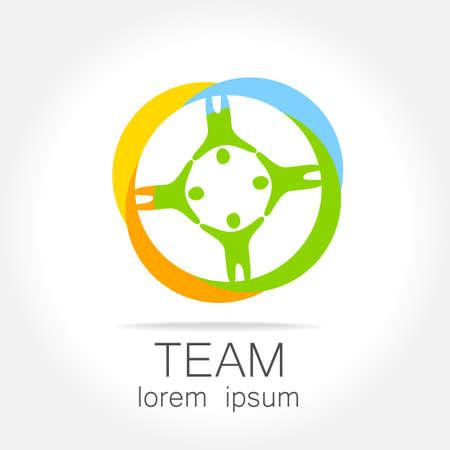 corporate team: Team  template. Social media marketing idea.   Corporate symbol. Social network. Illustration