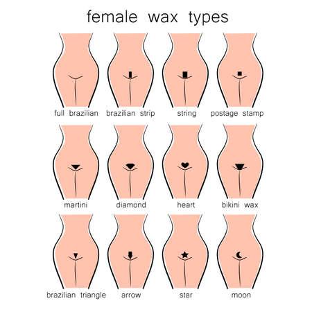 Bikini design - vrouwelijke soorten wax Stockfoto - 43026395