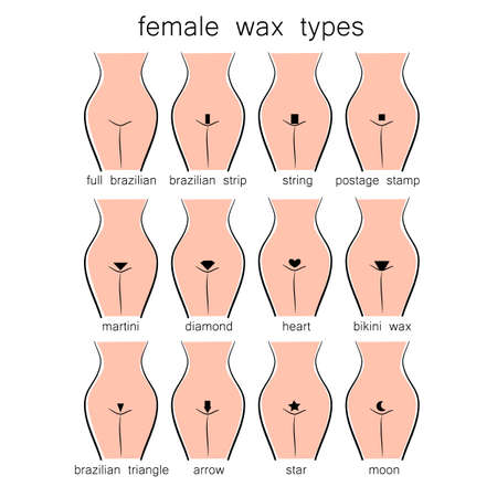 Bikini design - female wax types Illustration