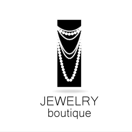 jewels: Jewelry - template logo for jewelry salon, manufacture of jewelry, brand jewelry. Illustration